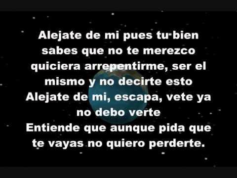 Camila -  De Alejate De Mi- Letra