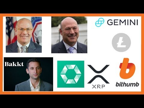 CFTC Giancarlo Institutional Money - Adam White Bakkt - Gary Cohn - Gemini Litecoin - Cobinhood XRP