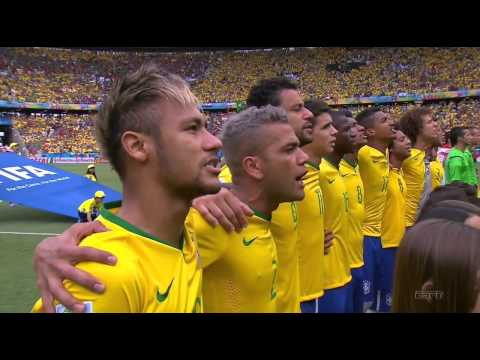 FIFA Word Cup 2014 - Brazil vs  Mexico National Anthems