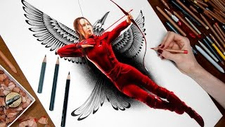 Drawing Katniss - The Hunger Games: Mockingjay - Part 2