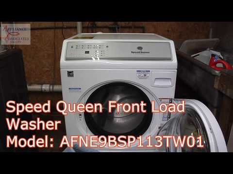 AFNE9BSP113TW01 Speed Queen Front Load Heavy Duty CYCLE Washing Two delivery blankets