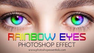 Photoshop Rainbow Eye Color Effect