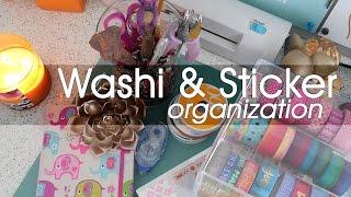 Lifestyle: Washi and Sticker Organization