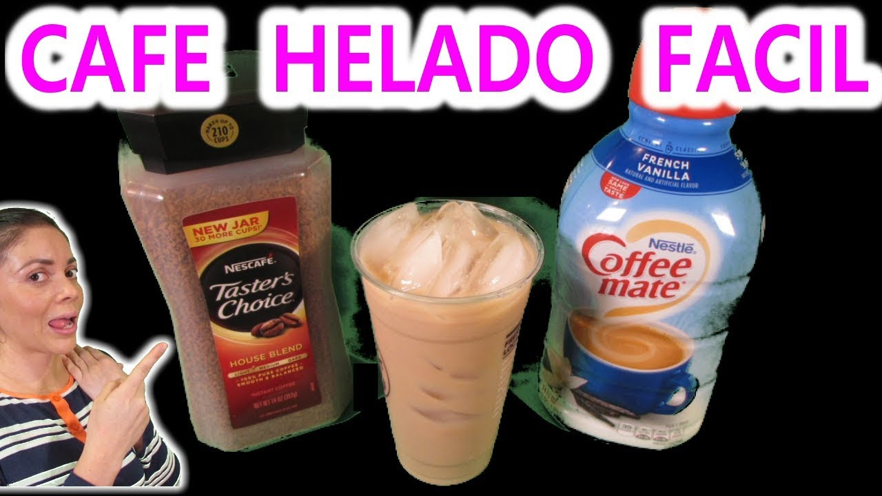 Cafe Frio Rapido Como Hacer Cafe Helado Casero En 2 Minutos Youtube