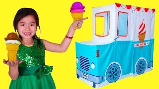 Jannie Ice Cream Truck Pretend Play with Ice Cream Sing-A-Along Song