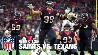 J.J. Watt Lays Out Drew Brees for the Big Sack! | Saints vs. Texans | NFL