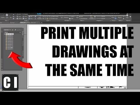 AutoCAD: How to create a sheet set and print multiple drawings at once