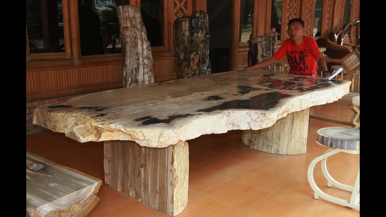 Petrified stone youtube for Petrified wood furniture for sale
