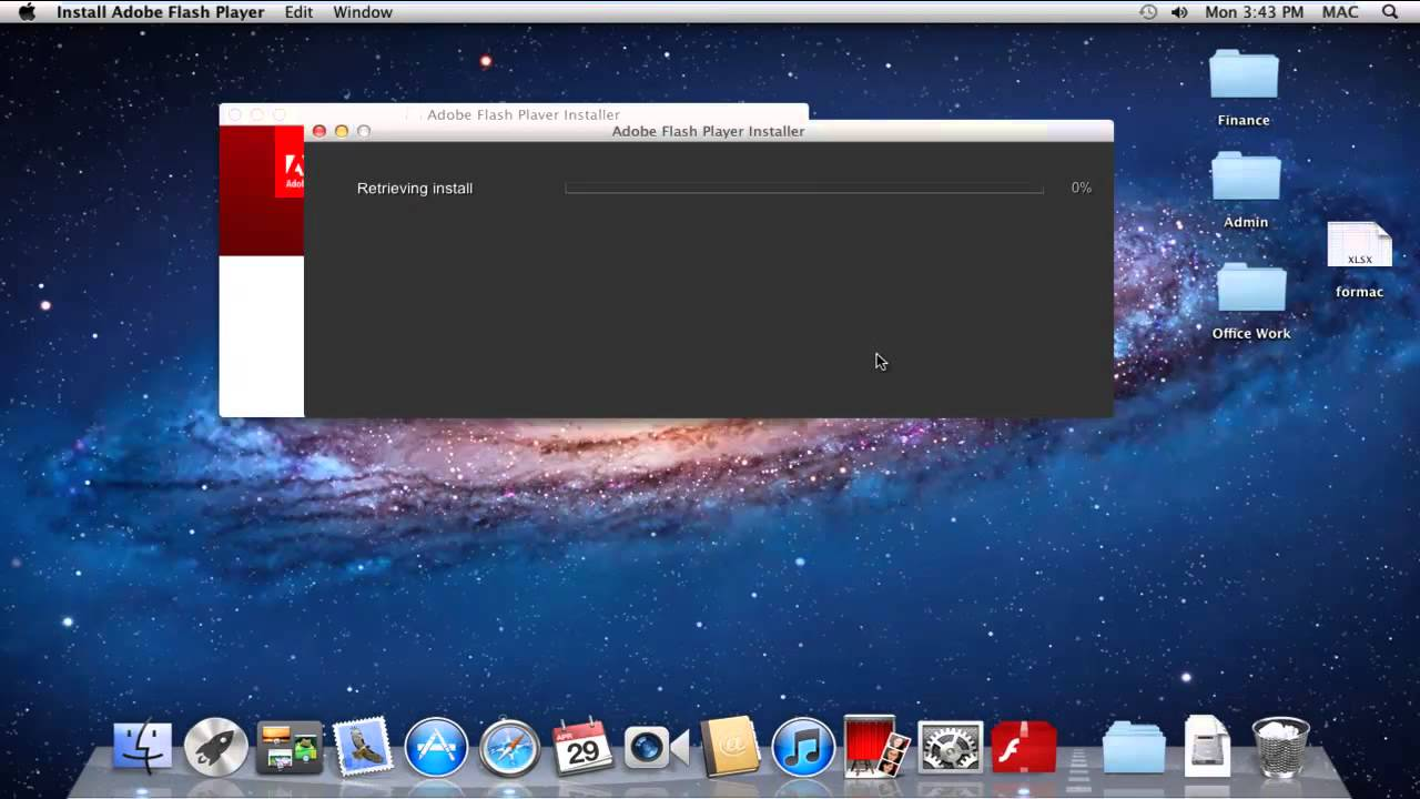FLASH TÉLÉCHARGER X 10.5.8 ADOBE PLAYER OS MAC