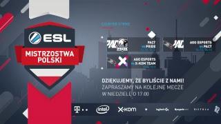 ESL Mistrzostwa Polski S17. Counter-Strike - Global Offensive - W6D2 - Na żywo