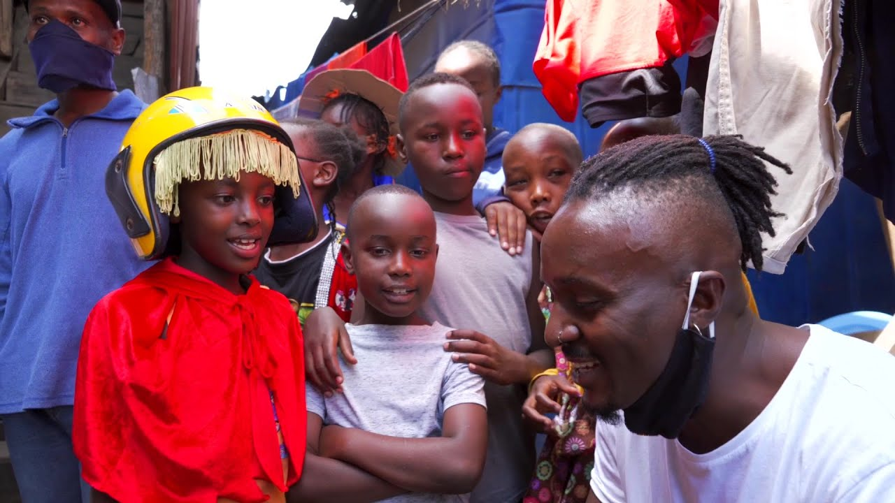 Sauti Sol pay a visit to the kids who recreated their Album Cover (H-Town Kids)
