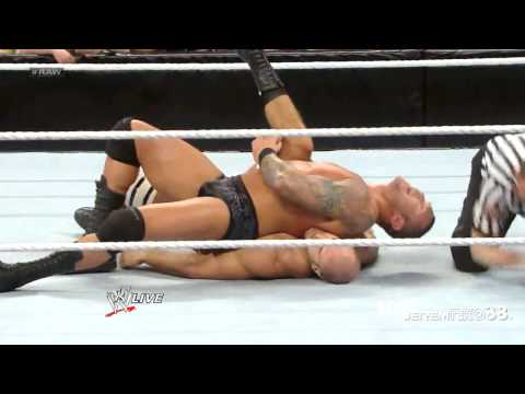 Randy Orton RKO on Antonio Cesaro - Raw - February 25, 2013