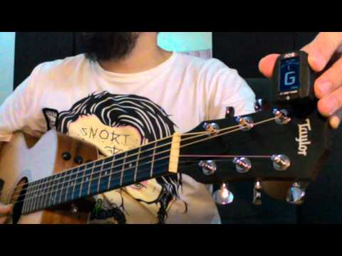 สอน ตั้งสาย กีต้าร์โปร่ง-ไฟฟ้า E A D G B E standard tune - น้าจร เชียงใหม่