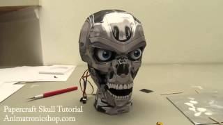 12 Papercraft Skull Tutorial - Finished