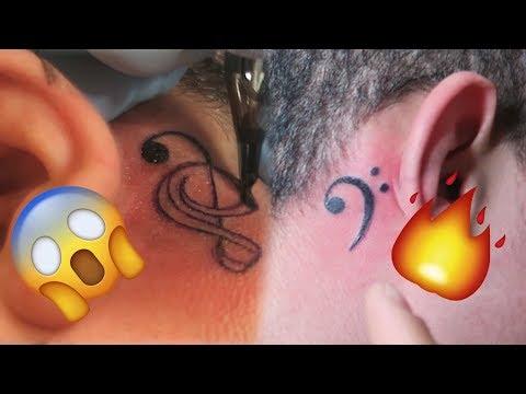 GETTING TATTOOS BEHIND MY EARS !!