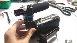 моя видеокамера (основная) и внешний микрофон (доработка)