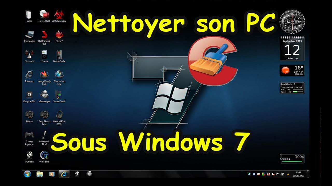 nettoyer son pc windows seven