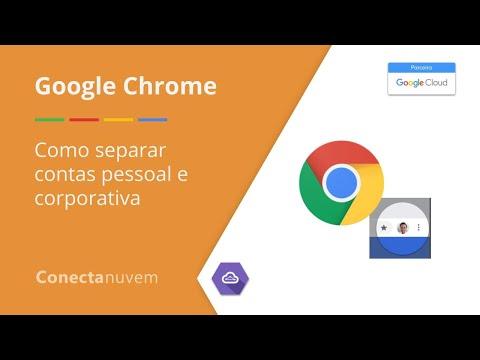 Como separar contas pessoal e corporativa - Google Chrome
