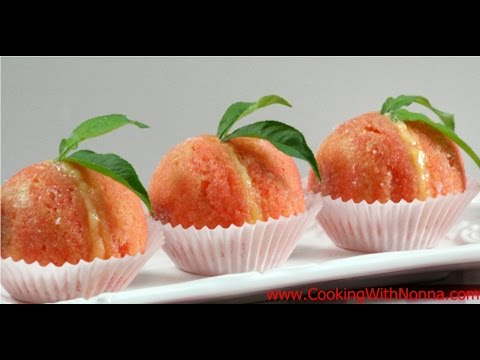 Italian Peach Cookies With Cream And Alkermes  - Rossella's Cooking With Nonna