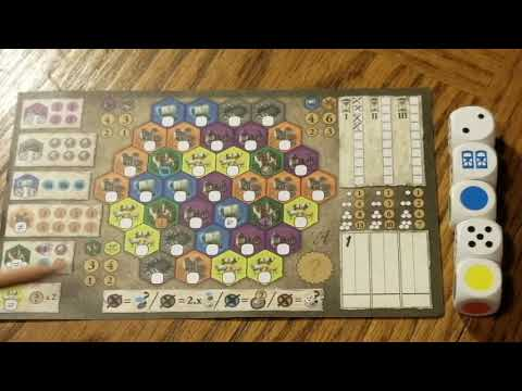 Hair Brained Games Castles Of Burgundy Dice Game Review Youtube