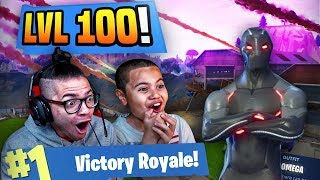 OMG 'NOUVEAU'TIER 100 OMEGA SKIN IS UNSTOPPABLE IN FORTNITE BATTLE ROYALE! 9 ANS FRÈRE! SAISON 4