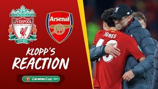 Klopp's reaction: 'I enjoyed each second of the game' | Liverpool vs Arsenal