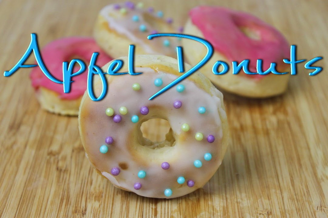 apfel donuts selber machen doughnuts rezept aus dem backofen youtube. Black Bedroom Furniture Sets. Home Design Ideas