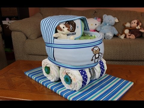 How To Make A Baby Buggy Diaper Cake