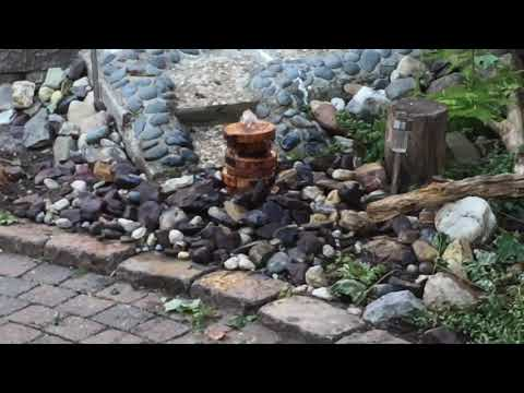 Homade DIY fountain out of wood