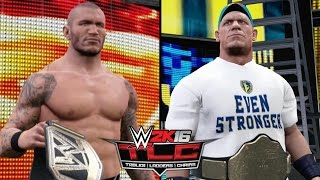 WWE 2K16 Simulations - Randy Orton vs. John Cena (TLC WWE World Heavyweight Title Match) [TLC 2013]