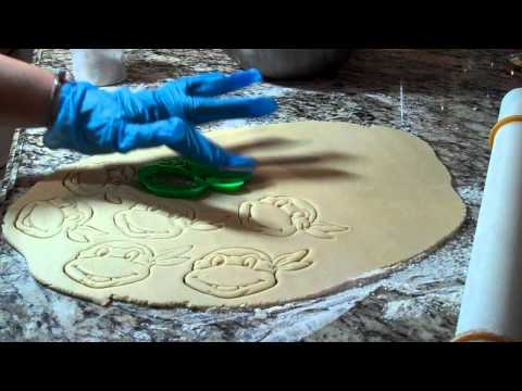 How to use Ninja Turtle Cookie Cutter from Etsy Part 1