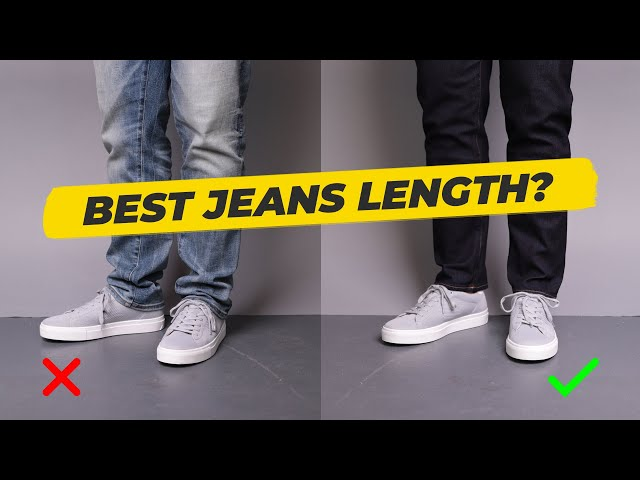 How long should men's jeans be? The PROPER length for your jeans • Effortless Gent