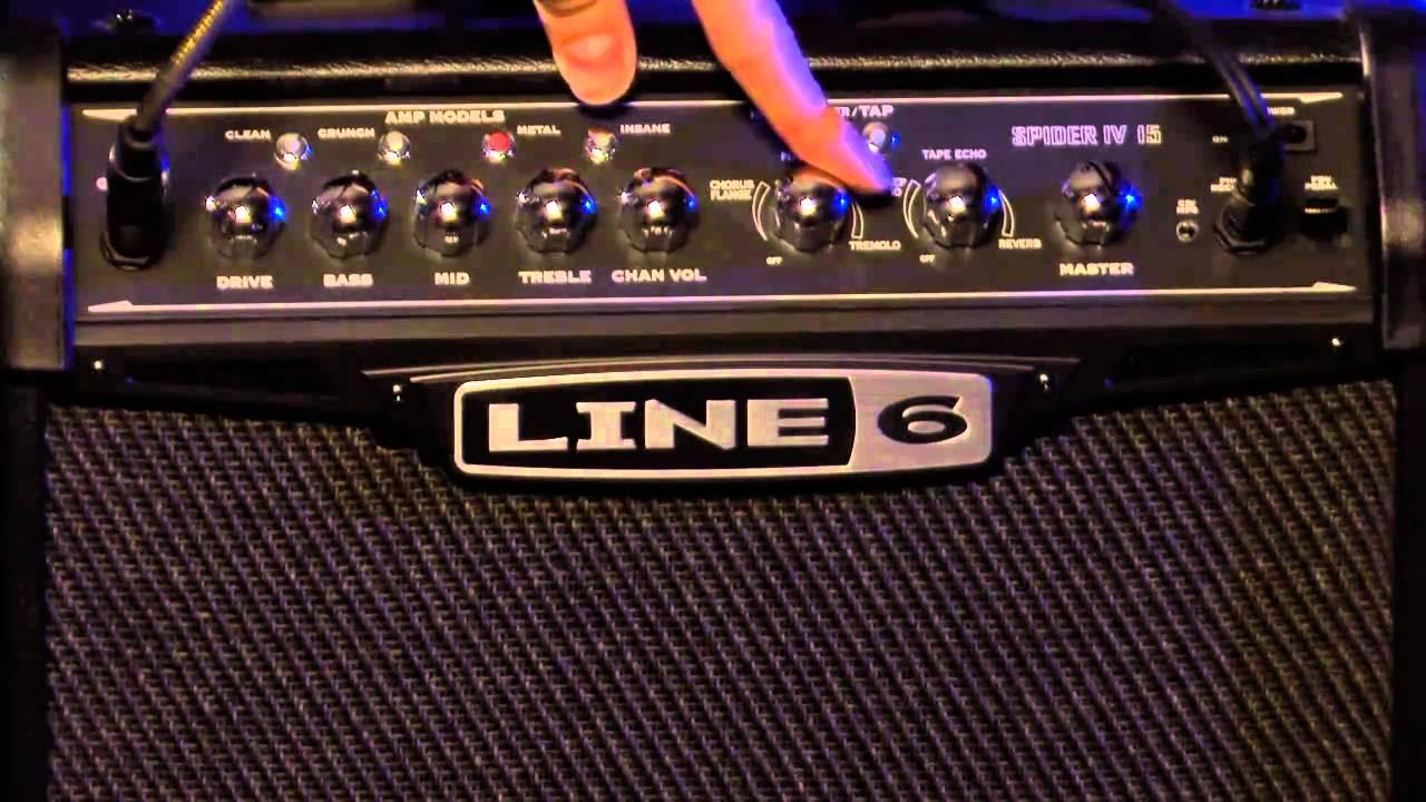 line 6 spider iv 15 watt amp gear review youtube. Black Bedroom Furniture Sets. Home Design Ideas