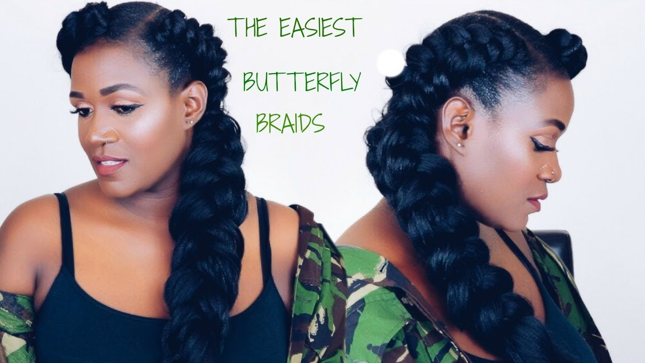 BUTTERFLY MERMAID BRAIDS FOR $1.99 IN 10 MINUTES - YouTube