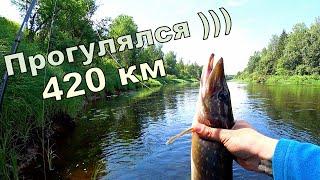 Рыболовное путешествие Щука Голавль 420 км пробега