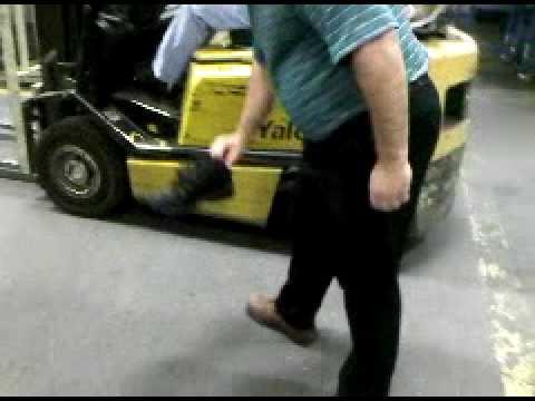 steel toe Vs. Forklift