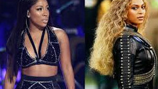k michelle is jealous of beyonces pregnancy annoucement watch her throw shade at bey