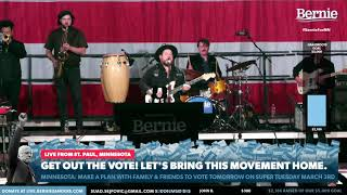 Nathaniel Rateliff & the Night Sweats - Say It Louder - Live @ Bernie Sanders Rally, St. Paul, MN