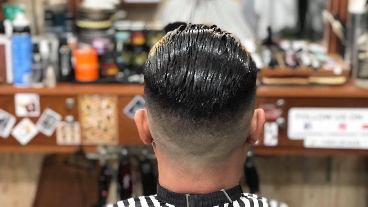 Tạo Kiểu Slick Back With Skinfade (How to skinfade) || Long BarberShop