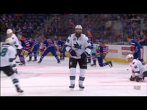 Brent Burns shows off dance moves in pregame