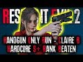 HANDGUN ONLY HARDCORE RUN – S+ RANK | Resident Evil 2 Remake Hardcore Gameplay | RE2 CLAIRE B PS4