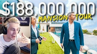 xQc Reacts to Touring A Massive $188 Million California Mega Mansion | Ryan Serhant Vlog #038