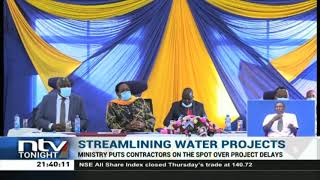 Water ministry puts contractors on the spot over delays