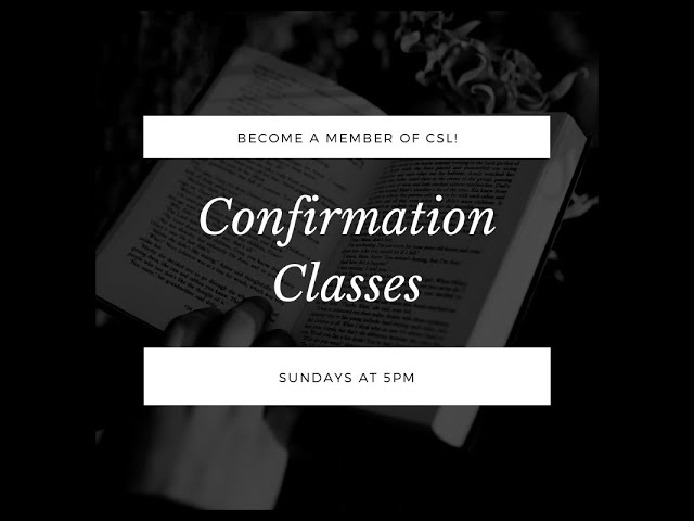 09.27.20 - Confirmation & Reception Class #2