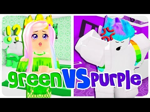 Using Only ONE COLOR WE HATE In Adopt Me... BUILD BATTLE CHALLENGE In Roblox