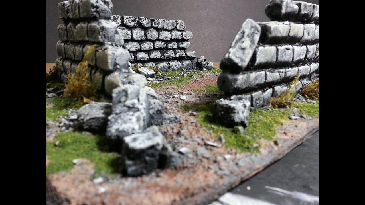Painting Rock Ruins Model Terrain