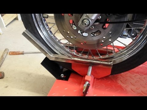 Harbor Freight Motorcycle Lift Modification - Learning to Weld