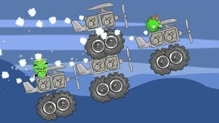 Bad Piggies - SILLY MONSTER PLANE AND MONSTER HELICOPTER INVENTIONS!