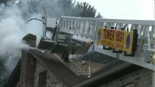 01.29.13 - 2ND ALARM; CHIMNEY FIRE; North Whitehall, PA.
