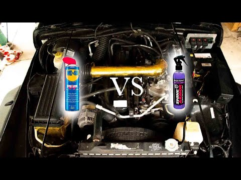 WD40 VS SHINE ARMOR ENGINE BAY CLEAN
